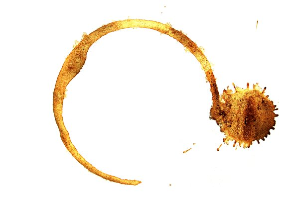 Coffee stain, brown, circle, coffee, cup, drink, drip, drop, mark, mug, paper, ring, round, smudge, spot, stain, stains, tea, white, photo